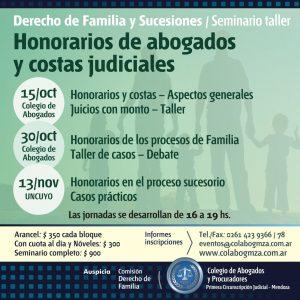 Seminario sobre costas y honorarios en el Derecho de Familia