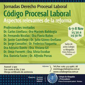 Jornadas sobre el Código Procesal Laboral de Mendoza
