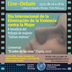 """Función de cine debate a beneficio del Refugio de Mujeres """"Sobran motivos"""""""