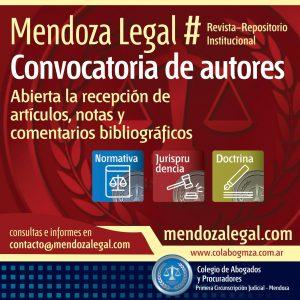 Convocatoria para publicar en Mendoza LEgal