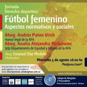 Jornada sobre aspectos normativos y sociales del fútbol femenino