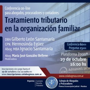 Conferencia sobre tratamiento tributario en la organización familiar