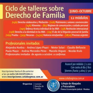 Ciclo de Capacitación en Derecho de Familia