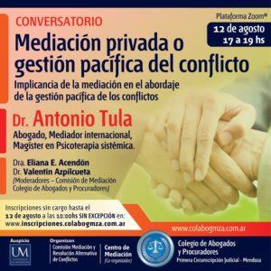 Conversatorio sobre gestión de conflictos a través de la mediación privada