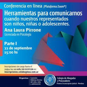 Conferencia sobre herramientas de comunicación con niñas, niños y adolescentes