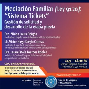 Capacitación en Sistema de Tickets para la Mediación Familiar