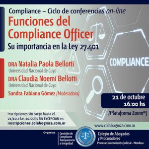 Charla sobre las funciones del compliance officer