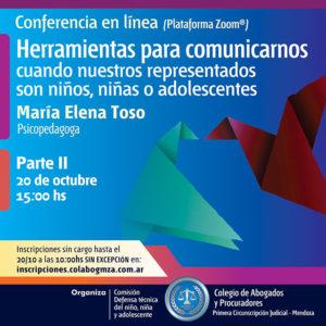 Conferencia sobre herramientas de comunicación cuando los representados son niñas, niños y adolescentes