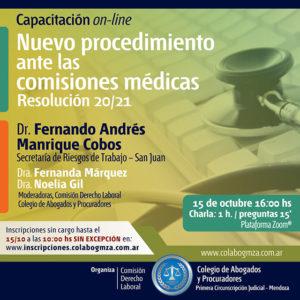 Charla on line sobre nuevo procedimiento ante las comisiones médicas